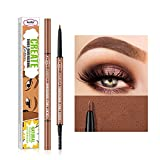 Ultra Precise Brow Pencil With 1.5MM Tip and Combs Brow Hair,Natural Double-Ended Waterproof Longlasting Eyebrow Pencil for Precisely Defined Eyebrows,0.78OZ(01#)