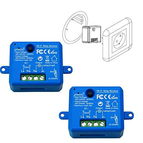 LoraTap 2 Piezas Interruptor WiFi Inteligente Módulo de...