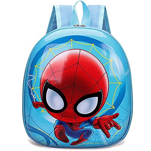 Miotlsy Mochila Infantil Spiderman Mochila,Bolsa Impermeable 3D Mochila para Niños, Mochila para niños de Dibujos Animados Impermeable y Ajustable Adecuado para Niños y Niñas de 2 a 6 Años