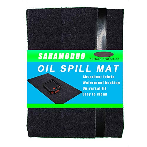 Oil Spill Mat (36'x 30'), Premium Absorbent Garage Floor Oil Mat – Reusable – Oil Pad Contains Liquids, Protects Garage Floor Surface