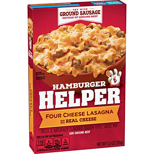 Betty Crocker Hamburger Helper, Four Cheese Lasagna, 5.5 oz