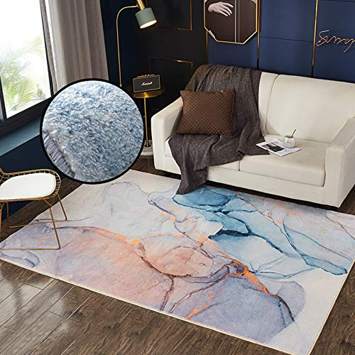 Hisunny Kinderzimmer Teppich 100x160cm Baumwollteppich Schurwollteppich Leicht Zu Reinigen Geeignet als Schlafzimmerteppich Home Decor