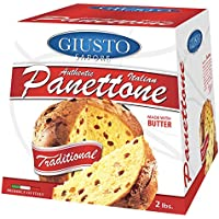 Giusto Sapore Italian Panettone Original Gourmet Bread 2Lb