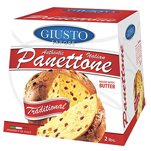 Giusto Sapore Italian Panettone Original Gourmet Bread 2Lb. - Traditional Dessert - Imported from Italy and Family Owned