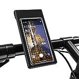 Lightingalways Wasserdichte Fahrrad & Motorrad Telefonhalterung, Universelle Passform Handyhalterung Fahrrad Lenkertasche Telefonhalter mit 360° Rotation für Smartphones bis zu 6.5'' (16.5 CM)