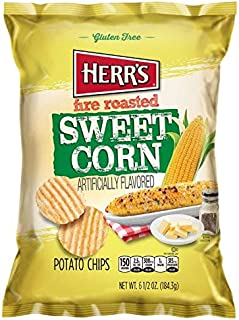 Herr's - Fire Roasted Sweet Corn Potato Chips, Pack of 12 bags