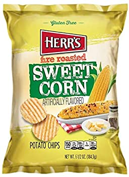 Herr s - Fire Roasted Sweet Corn Potato Chips Pack of 12 bags