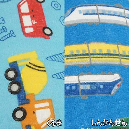 子供用スリッパ働くのりものソフト16cmまで日本製静音洗える電車乗り物男の子かっこいいWガーゼ職人新幹線