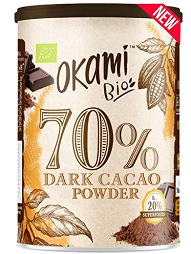 Okami Bio 70% Cacao Desgrasado en Polvo, 250g