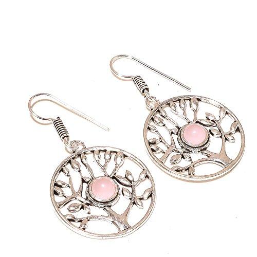 ¡Gemas rosadas de CUARZO ROSA! ¡Exótico! Pendientes colgantes de 2