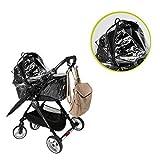 Wind- und Regenschutz für Babywanne, aus transparentem Kunststoff zum Schutz vor Regen, UNIVERSAL und mit Schutzklappe , Regenschutz für Kinderwagen, Regenverdeck Regenhaube für Buggy und Sportwagen