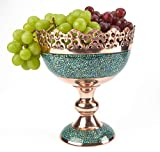LPUK - Frutero persa de lujo, exquisito cuenco de fruta de cobre de 830 g, altura: 20 cm, diámetro: 19 cm