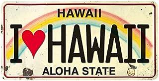 Pacifica Island Art License Plate Magnet Refrigerator Souvenir - I Love Hawaii