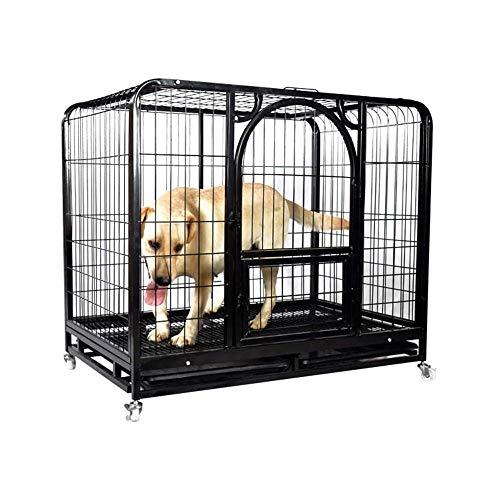 UNIIKE Beschichtung Eisen Drahtfeder Tür Haustier Hund Katze Kaninchen Käfige Meerschweinchen Käfig Maxi-Reise Carry