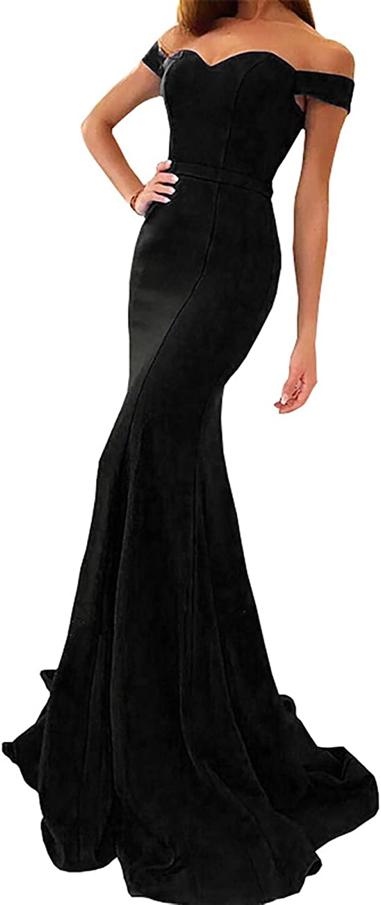 yinyyinhs Off The Shoulder Mermaid Prom Dress Sweetheart Long Formal Evening Gown