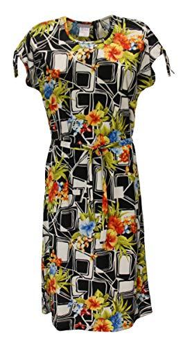 Sommerkleid Kleid Hauskleid Gartenkleid Strandkleid Jersey, Größe:46, Design:Design 1