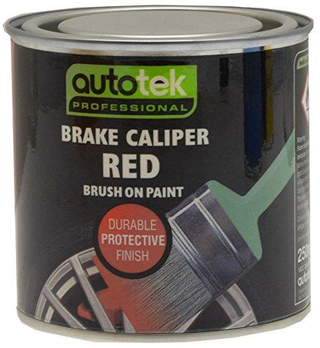 Autotek ATOOCALR250 Bremssattel-Lack, zum Auftragen mit dem Pinsel, 250 ml, Rot