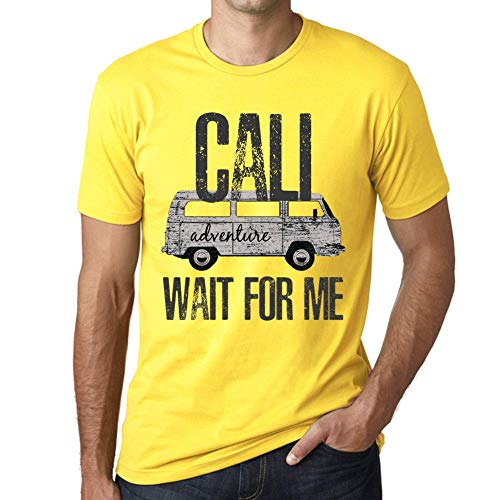 One in the City Hombre Camiseta Vintage T-Shirt Gráfico Cali Wait For Me Amarillo