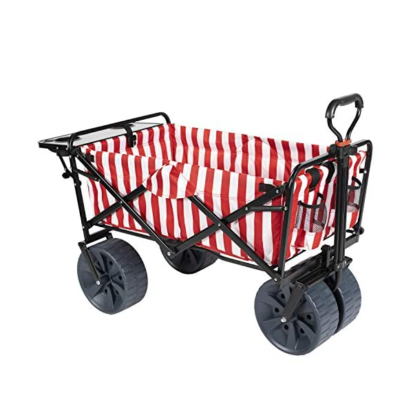 MacSports Collapsible Outdoor Folding Wagon with Side Table, Perfect Beach Wagon...