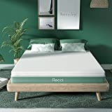 RECCI 2 Inch Twin Mattress Topper, Pressure-Relieving Memory Foam Mattress Topper for Back Pain, Foam Mattress Topper with Removable & Washable Cover, CertiPUR-US Certified, Twin Size