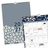 Boxclever Press Perfect Year A3 Kalender 2021. Wandkalender 2021 Groß mit Monatstaben. Kalender 2021 Familienplaner von Jan.-Dez.'21. Geräumiger Kalender 2021 Wandkalender mit Tasche & Stickern.