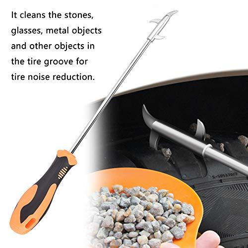 Autoreifen-Reinigungswerkzeug, Reifensteinhaken, hochwertiger, rostbeständiger, langlebiger Feststoff für Autoreifen