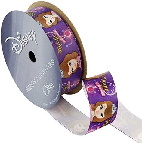Offray Purple Sofia The First Craft Ribbon 7 8 Inch by 9 Feet Magic 7 8 Inch x product image