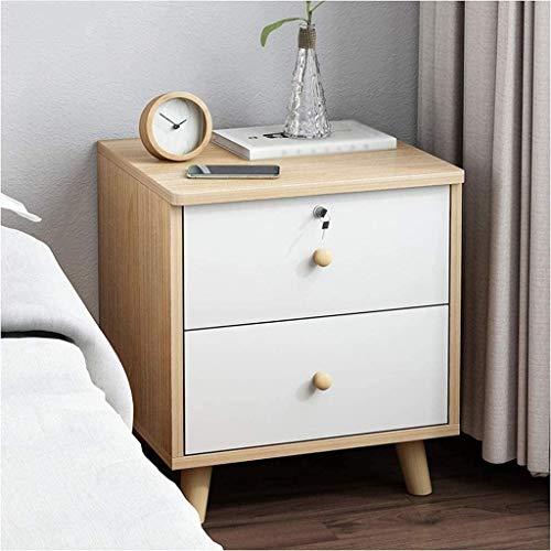 File cabinets Nachttisch Nachttisch Schlafzimmer Montage mit Schloss Spind, bodenstehend, Korridor, Doppelpumpe, Wohnzimmer-Aufbewahrungsbox, Beistelltisch (Farbe: B)