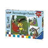 Ravensburger- 3 Puzzles Le Loup Super-héros 49 pièces Enfant, 4005556080571, Néant