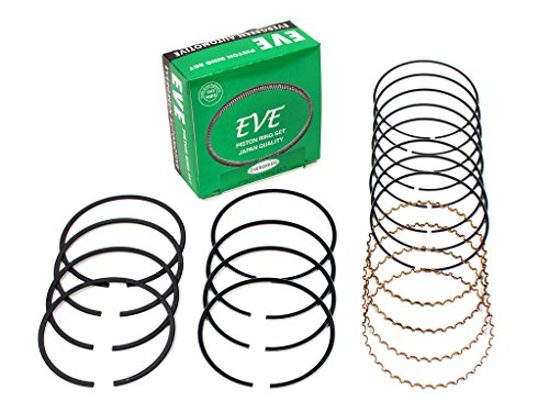 Evergreen RS2015-EVE.STD Compatible With 93-97 Toyota Corolla Celica Geo Prizm 1.6L 1.8L DOHC 4AFE 7AFE Engine Piston Ring Set (Standard Size)