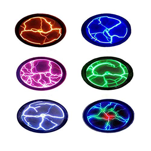2,5 Zoll Neue Fancy Plasma Disk Sensor sunnymi Mini Beleuchtungsplatte,Disco Party Dekor (Zufällige Farbe, 2,5 Zol)