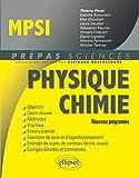 Physique chimie MPSI - Nouveau programme