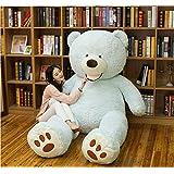 BEARS'HOMEぬいぐるみ  くま クマ 熊 テディベア 抱き枕 クッション 特大 かわいい オシャレ お祝い (ブルー, 130cm)