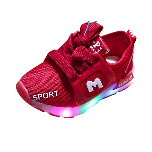 SANFASHION Kinder Baby Schuhe mit Licht LED Leuchtende Blinkende Sneaker,Kleinkind Mädchen Jungen Weiche Outdoor Beleuchtung Sportschuhe
