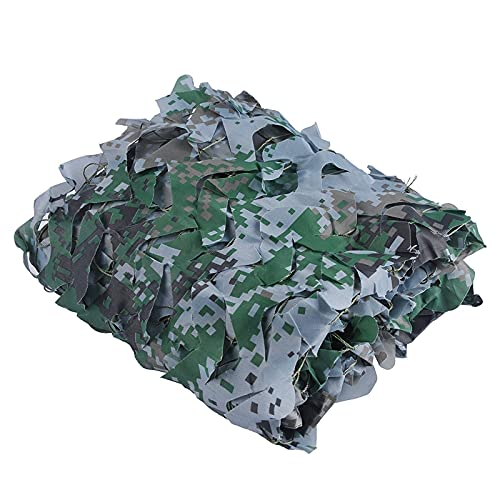 Woodland Camo Netting,Blind Cover Hunting Party Decorations Camo Burlap For Deer Stand Kids Camo Tent Woodland Camouflage,Great For Sunshade Camping Shooting Hunt(Size:1.5x7M=5X23FT,Color:Digital)