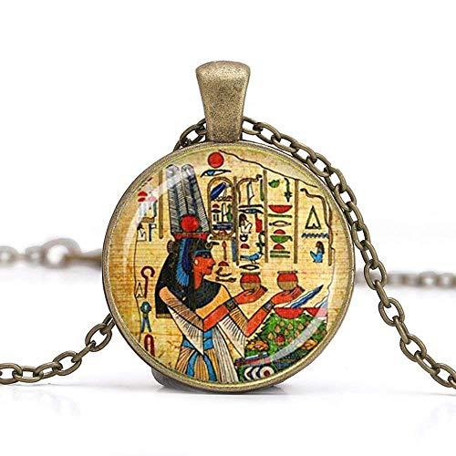 Cleopatra Halskette mit Anhänger, ägyptische Kunst, handgefertigter Schmuck, Queen Vintage Charm, einzigartiges Geschenk