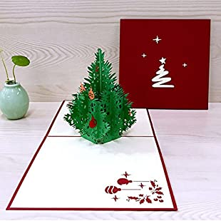 Reefa Christmas Cards 3D Pop Up Greeting Card for Christmas/Xmas/New Year/Festival