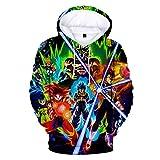 Anime Hoodie Men's 3D Printed, Anime Print Hoodie Men/Women 3D Sweatshirt Dragonball Z child Goku Pocket Hoodie Fashion Streetwear-L_15