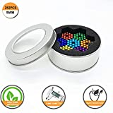 Aomeiter Magnetic Ball 5MM 7 Colors 252 Pcs Magnets Cube Building Blocks Colorful
