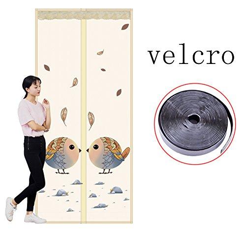Magnetische klittenband op het scherm, muggennet, maandeur, voor thuis, slaapkamer, keuken, markt, hoog denisity, winddicht, L 80 x 220 cm (31 x 87 inch)