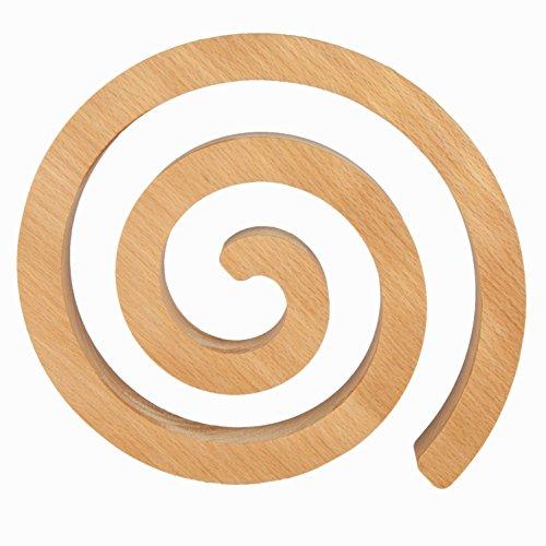 Rasch Design Topfuntersetzer Swirl 21cm | Buche, Ahorn, Eiche, Kirsche oder Nussbaum Massivholz | Kochtopf Untersetzer aus Holz (Buche)