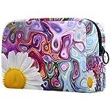 Neceser de viaje, bolsa de viaje impermeable de alta calidad con cremallera mejorada, flor de lavanda violeta malva