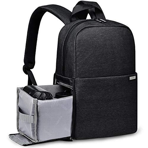 LANZHEN-RY Langlebig Outdoor-Multifunktions-TV, Video Wasserdichte Digitalkamera-Beutel-Rucksack Tablet-Laptop-Tasche Geldbeutel (Color : Black, Size : S)
