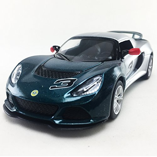 Kinsmart 2012 Lotus Exige S Two Tone Green Color 1:32 DieCast,Model,Toy,Car,Collectible, Collection, Hobby