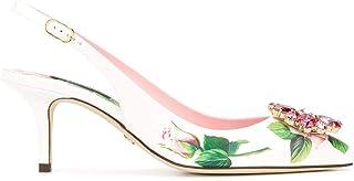 Luxury Fashion | Dolce E Gabbana Women CG0183AJ730HA96C White Leather Heels | Spring-summer 20