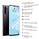HUAWEI P30 Pro 128 GB 6.47 Inch OLED Display Smartphone with Leica Quad AI Camera, 8GB RAM, EMUI 9.1.0 Sim-Free Android Mobile Phone, Single SIM, Midnight Black, UK Version