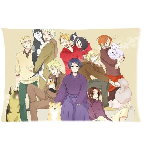 Tuesday APH Axis Powers Hetalia Custom Zippered Pillow Cases Kissenbezüge (35cmx50cm)