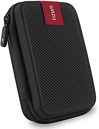 TIZUM External Hard Drive Case for 2.5-Inch Hard Drive - Double Padded (Black)