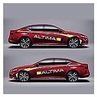 XIAOZHIWEN レーシングスポーツストライプ車の両側ボディカスタマイズされた日産アルティマのためのデカールスポーツオートステッカー (Color Name : Red car B)