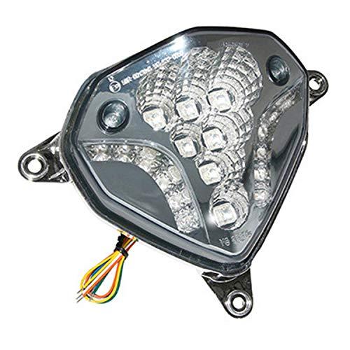 Motodak Achterlicht - Scoot geschikt MBK Nitro 50 2013 + -Yamaha 50 Aerox 2013 + Transparant A Leds met knipperlicht -replay-